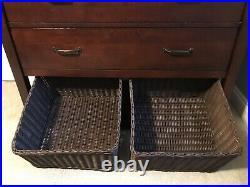Pottery Barn Kids Camp Bunk Bed / Dresser / Chair Set Espresso Brown Finish