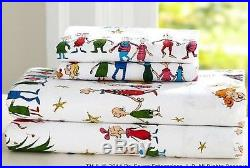 Pottery Barn Kids Christmas Dr. Seuss's THE GRINCH Queen Percale Sheet Set