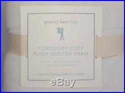 Pottery Barn Kids Corduroy Cozy Plush Full Queen Quilt & 2 Standard Shams Ivory