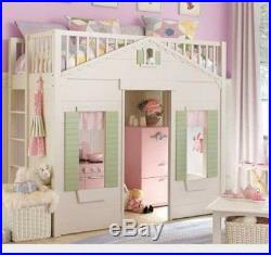 Pottery Barn Kids Cottage Twin Bunk Bed Playhouse. Matress available if needed