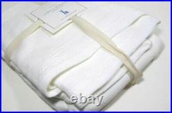 Pottery Barn Kids Creamy Butterfly Matelasse Twin Coverlet Blanket Sham New