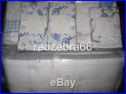 Pottery Barn Kids Daniel Monkey Crib Bumper Quilt Sheets Sham Set Organic 6-pc