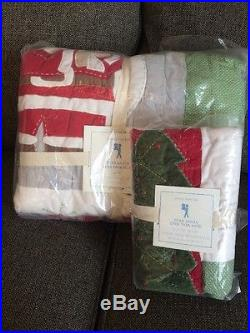 Pottery Barn Kids Dear Santa Twin Quilt and Standard Sham New