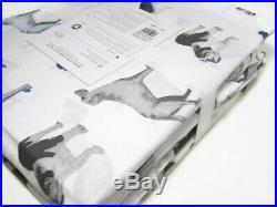 Pottery Barn Kids Decorator Multi Breeds Dogs Organic Cotton Full Sheet Set New