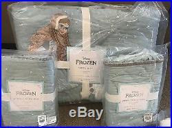 Pottery Barn Kids Disney FROZEN full quilt shams sheet set icy tulle bed skirt +
