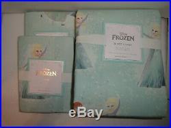 Pottery Barn Kids Disney Frozen FULL QUEEN duvet cover 2 shams PRINCESS
