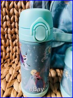 Pottery Barn Kids Disney Frozen Large Backpack Lunch Box Water bottle Thermos
