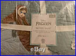 Pottery Barn Kids Disney Frozen Sateen Full Queen Quilt/standard Shams New