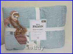 Pottery Barn Kids Disney Frozen Sateen Twin Quilt & Standard Sham New