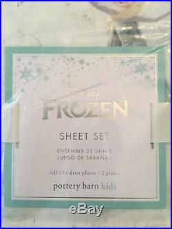 Pottery Barn Kids Disney Frozen Size FULL Sheet Set New in Package