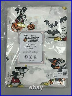 Pottery Barn Kids Disney Mickey Mouse Organic Halloween Queen Sheet Set NEW
