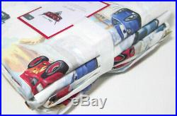 Pottery Barn Kids Disney Pixar Cars Organic Cotton Full Sheet Set New