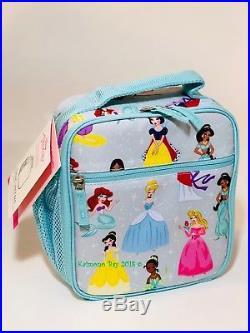 Pottery Barn Kids Disney Princess Backpack Large Girls Bookbag Lunchbox New 7pc