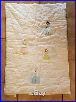 Pottery Barn Kids Disney Princess Bell Toddler Quilt #3050
