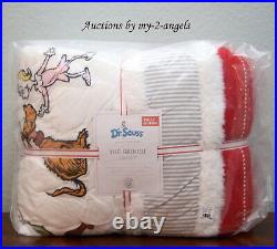 Pottery Barn Kids Dr. Seuss THE GRINCH Full/Queen F/Q Quilt Christmas holiday