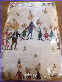 Pottery Barn Kids Dr. Seuss's The Grinch Flannel Duvet FULL/QUEEN Christmas