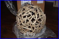 Pottery Barn Kids Driftwood Pendant Chandelier Brand New In Box