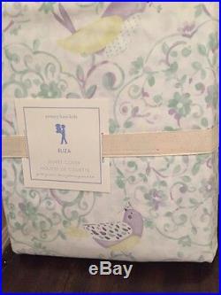Pottery Barn Kids ELIZA Floral Bird Duvet Sheet Set Full NWT spring Easter