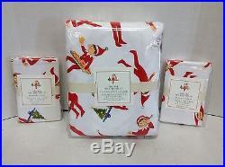 Pottery Barn Kids Elf on the Shelf Flannel Full Queen Duvet Christmas Bed 2 Sham