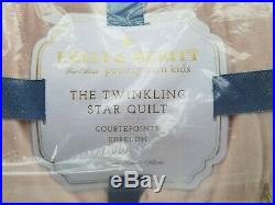 Pottery Barn Kids Emily & Meritt Twinkling Star Blush Twin Quilt #3189