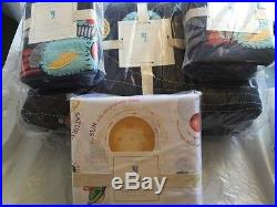 Pottery Barn Kids Eric Outer Space planet quilt shams Nathan Star sheet Queen