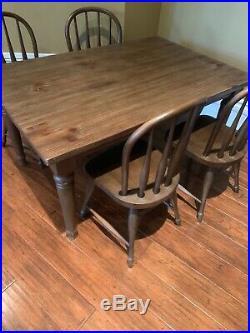 Pottery Barn Kids Farmhouse Set Play Table & 4 Chairs Weathered Coastal PICKUP