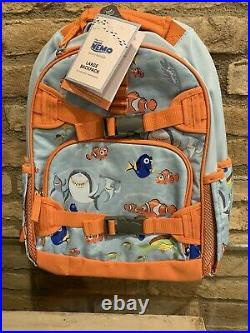 Pottery Barn Kids Finding Nemo Large Backpack Lunchbox Water Bottle Set New