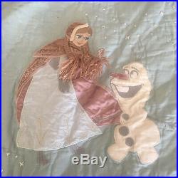 Pottery Barn Kids Frozen Full Queen Quilt Shams Sheets Pillow Set