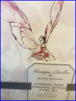 Pottery Barn Kids Full Monique Lhuillier Ethereal Fairy Sheet Set Sateen Organic