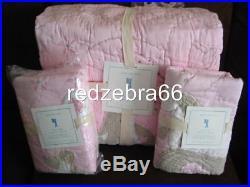 Pottery Barn Kids Girl Pink Unicorn Twin Quilt Standard+Euro Shams 3-pc Set NIP