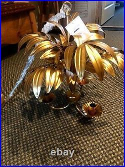 Pottery Barn Kids Gold PALM Chandelier Lilly Pulitzer Design NEW 3 Light