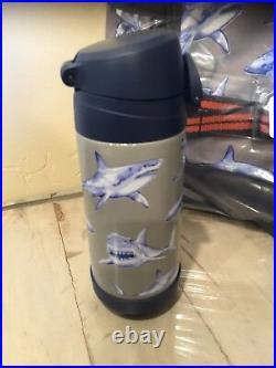 Pottery Barn Kids Gray Shark Small Backpack Lunchbox Water Bottle New Set