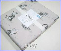 Pottery Barn Kids Grayish Pink Cotton Lulu Kitty Cats Twin Duvet Cover New