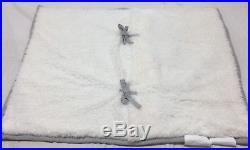 Pottery Barn Kids Grey Corduroy Plush Twin Quilt+1 Standard Sham