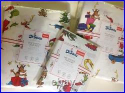 Pottery Barn Kids Grinch&Max Sheet Sets-Full, Queen, Standard Dr Seuss Christmas