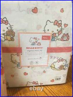 Pottery Barn Kids HELLO KITTY full/queen duvet+Sheet+2shams+pillow