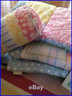 Pottery Barn Kids HUGE lot Bedroom Decor / Bedding Hibiscus / Surfboard Rug