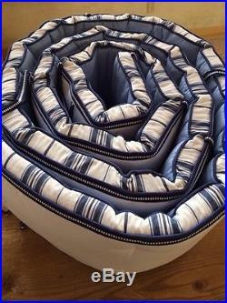 Pottery Barn Kids Harper/Chase Navy Crib Quilt, Sham, Sheet, Skirt, Bumper Nursery +