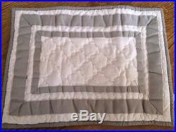 Pottery Barn Kids Harper Gray Nursery Crib Quilt + Sham + Sheet + Skirt