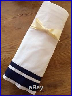 Pottery Barn Kids Harper Navy Crib Quilt, Sham, Sheet, Skirt, Anchor Pillow-Nautical