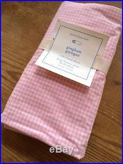 Pottery Barn Kids Harper Pink Nursery Crib Quilt, Sham, 2 Fitted Sheets, Skirt +