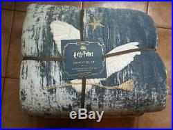 Pottery Barn Kids Harry Potter Hedwig Owl Blue Twin Quilt #2110