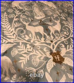 Pottery Barn Kids Harry Potter Magical Damask Comforter-Mint Full Queen 86x86