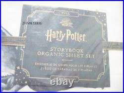Pottery Barn Kids Harry Potter Organic Storybook FULL Sheet Set PBK Full HP NWT