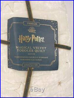 Pottery Barn Kids Harry Potter Velvet Toddler Magical Quilt #6226