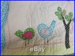 Pottery Barn Kids Hayley 6 pc Set Birds Trees Full/Queen Bedding Set