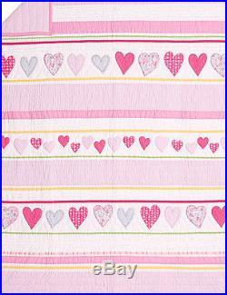 Pottery Barn Kids Heart TWIN quilt 1 standard sham