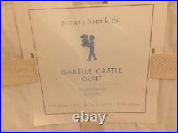 Pottery Barn Kids Isabelle Castle Mermaid Full/Queen Quilt Euro sham Beach Ocean