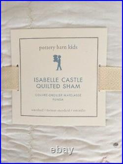 Pottery Barn Kids Isabelle Mermaid Castle Full Queen F/Q Quilt Shams NEW