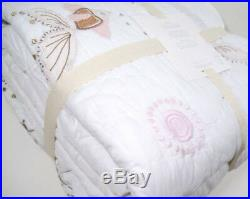 Pottery Barn Kids Isabelle Mermaid Castle Sequin Beaded Twin Quilt Euro Sham New